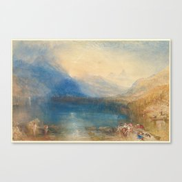 Joseph Mallord William Turner , (British, London 1775–1851 London), The Lake of Zug Canvas Print