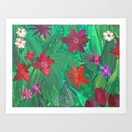 Out in the Garden Art Print