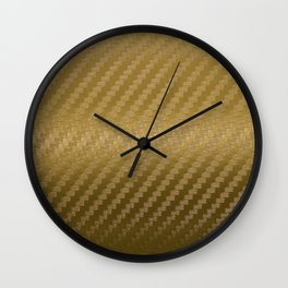 Gold Carbon Wall Clock