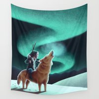 howl Wall Tapestries featuring Howl by slewisillustration