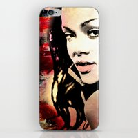 rihanna iPhone & iPod Skins featuring rihanna by mark ashkenazi
