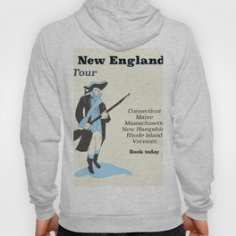 New England vintage travel poster Hoody