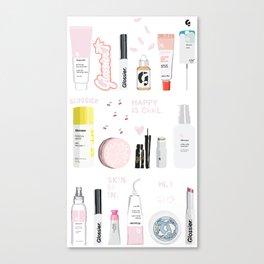 Glossier Top Shelf Canvas Print