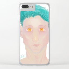 Demon eyes Clear iPhone Case