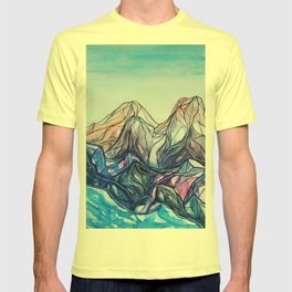 abstract landforms T-shirt