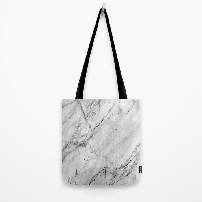 Carrara Marble Tote Bag