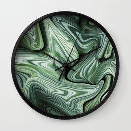 Sinking in Green Wall Clock