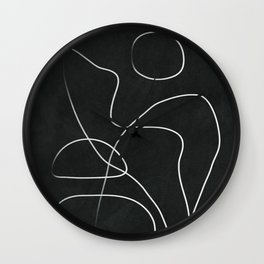 Abstract Line IV Wall Clock