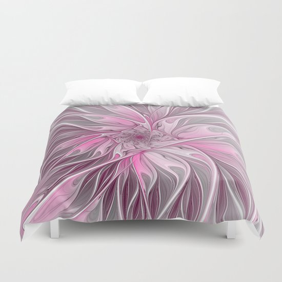 Abstract Pink Floral Dream Duvet Cover