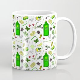 Colourful Gin Drinker Cocktail Bar Pattern Coffee Mug