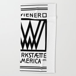 Wiener Werkstaette of America Beach Towel
