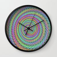 disco Wall Clocks featuring disco by Maureen Popdan