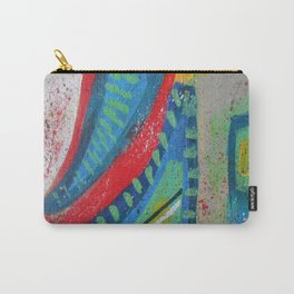 Abstract landscape - bright, eye-opening, vibrant color piece Carry-All Pouch