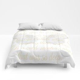 The First Noel angel wings Comforters