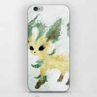 leaf iPhone & iPod Skins featuring Leaf by Melissa Smith