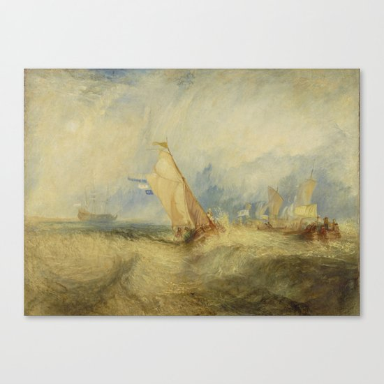 Van Tromp getting a good wetting Canvas Print