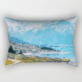 Mountain Scenery 1 painted Rectangular Pillow