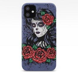 Sugar skull girl iPhone Case