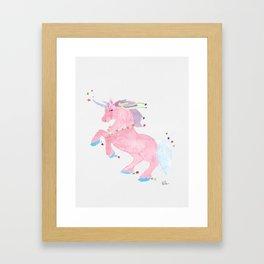M's Unicorn Framed Art Print