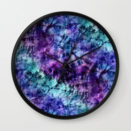 Midnight Tie Dye Wall Clock