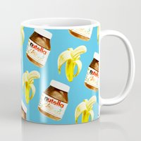 nutella Mugs featuring Because you and me are meant to be by popsicledonut