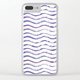 Ultraviolet waving Clear iPhone Case