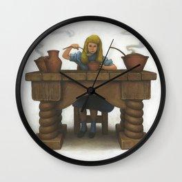 Goldilocks Eating Her Porridge Wall Clock