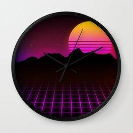 80s Vibes Wall Clock