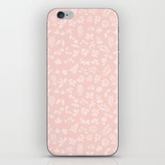 Pink Coral Fall Leaves iPhone Skin
