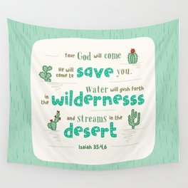 """""""Streams in the Desert"""" Hand-Lettered Bible Verse Wall Tapestry"""