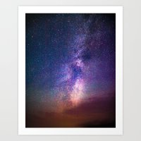 milky way Art Prints featuring Milky Way by Lotus Effects