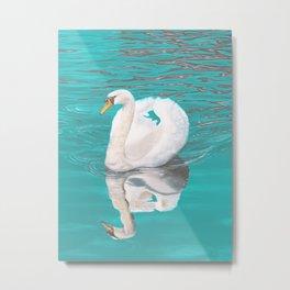 Gliding Swan Metal Print