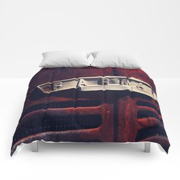 Rusted Farmall Tractor Comforters