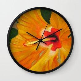 Golden Glow Wall Clock