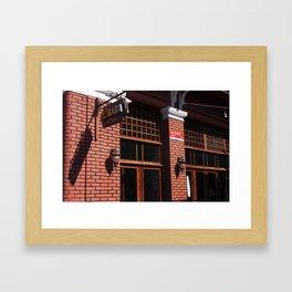 Red Brick Wall... Framed Art Print