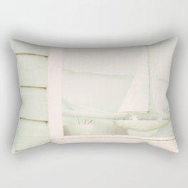 Beach Hut boat ♥ Rectangular Pillow