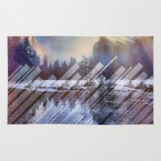 Winter Sun Rays Abstract Nature Rug