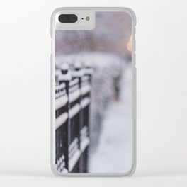 Snow Day in the City Clear iPhone Case