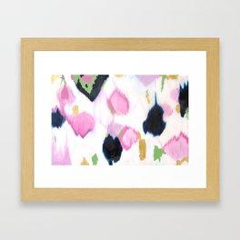 Kenzie - Pink Ikat Framed Art Print