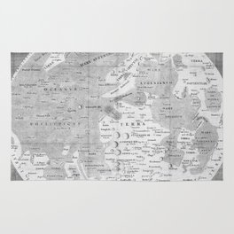 Vintage Map of The Moon (1645) Rug
