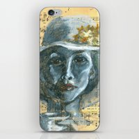 cafe iPhone & iPod Skins featuring Cafe by Spinning Daydreams