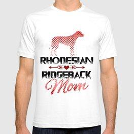 Rhodesian Ridgeback Mom Art Print, Mosaic Dog Silhouette, Dog Lover Gift T-shirt