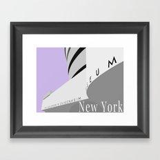 New York - Guggenheim Framed Art Print