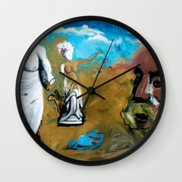 When Mother Nature Speaks We Are All At Her Mercy Wall Clock