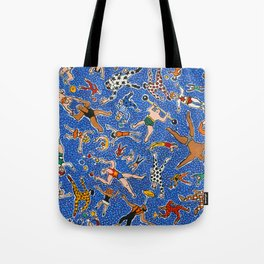 Circus Performers by Nettwork2Design - Nettie Heron-Middleton Tote Bag