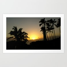 hawaii Sunset Series C Art Print