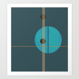 Geometric Abstract Art #4 Art Print