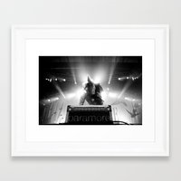 hayley williams Framed Art Prints featuring Hayley Williams by Ethan Luck