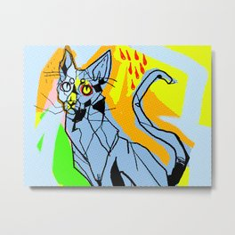 Kitty Kat Metal Print