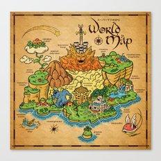 World Map - Mario RPG Canvas Print
